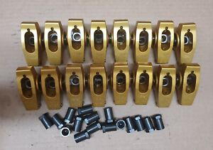 Crane Cams Gold Roller Rocker Arms 1.7 Ratio Set of 16 Big Block Chevy BBC