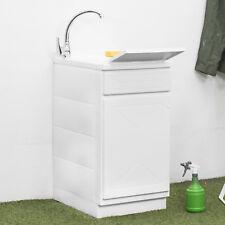 Lavatoio interno o esterno in resina 45x50 cm con 1 porta vasca e asse lavapanni