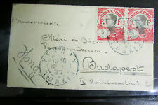 Indo-China Mini Cover Registered Back Stamped Rare