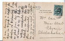 Genealogy Postcard - Family History - Cran - Rhynie - Aberdeenshire   U2631