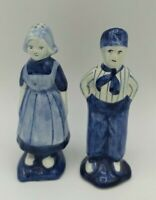 Delft Blue Figurines Salt & Pepper Shakers Boy Girl Holland Hand painted