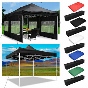 OUTDOOR LIVING SUNTIME 10 x 10 Slant Leg Instant Canopy Pop Up Portable Canopy Sun Shade Tent