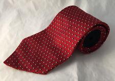 Red White & Navy Blue Tommy Hilfiger Polka Dot 100% Silk Mens Neck Tie