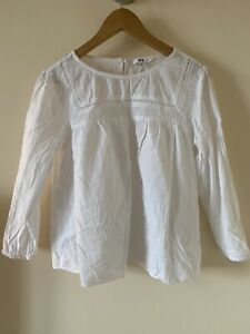 Uniqlo broderie anglaise White Blouse Size M