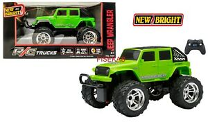 New Bright Remote Control RC Green Jeep Wrangler 4 door truck 49 MHz 2018 NEW
