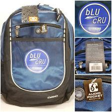NWT OGIO Yamaha Racing Blu Cru Backpack Built In Audio Pocket Blue Black