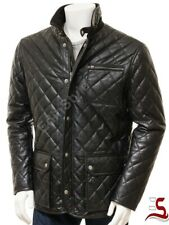 Genuine Sheep Skin Men's Quilted Jacket Pure Leather Outstanding Style Blazers