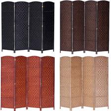 3 4 5 6 7 8 10 Panel Folding Room Divider Privacy Screen Diamond Weave Fiber