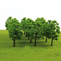 UK_ 20 MODEL TREES TRAIN RAILROAD DIORAMA WARGAME PARK SCENERY OO SCALE 1:100 RO