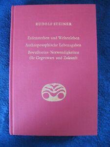 Rudolf Steiner ' Erdensterben und Weltenleben', 21 Vorträge, 1918 , Berlin