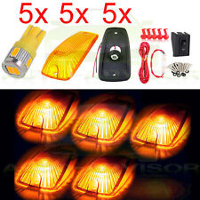 5x Roof Running Cab Marker 11516638 Light 5730-SMD 194 Warm White LED for Chevy