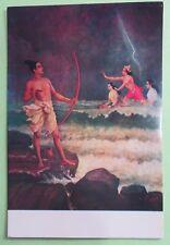 Vintage Raja Ravi Varma Sri Rama Vanquishing the Sea picture postcard