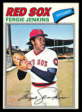 1977 TOPPS OPC O PEE CHEE BASEBALL #187 FERGIE JENKINS NM BOSTON RED SOX CUBS