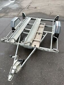 Motorcycle trailer by Indespension (2 full size bikes)