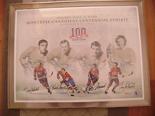 Montreal Canadiens Centenial Signed Poster, 2008 HHOF, NHL, Hockey, RARE