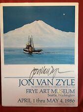 "JON VAN ZYLE SIGNED - MYSTIC MOUNTAINS EXHIBIT 1986 18.25""x2.25' FREE SHIPPING"