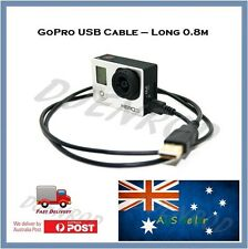 GoPro USB Cable for Go Pro Hero 4 / 3+ / 3 Black, Silver, White  Fast Transfer
