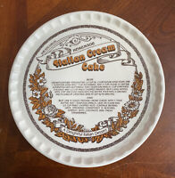 "Royal China Co. HOMEMADE ITALIAN CREAM CAKE 11.5"" Plate Platter Vintage 1983"