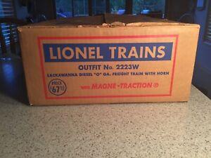 Original Lionel Postwar O Gauge Empty Set Box #2223W Very Nice C6/7