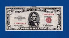 Fr. 1534   $5  1953 A  STAR  LEGAL TENDER UNITED STATES NOTE STAR * 06910668 A