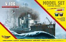 GERMAN WWI TORPEDO BOAT V106, MODEL SET , 1/400, MIRAGE HOBBY 840064