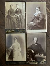 Set Of 4 Victorian Cabinet Portrait Photos Glasgow