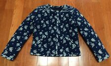 NWT J.CREW Indigo Floral Quilted Jacket Size 00