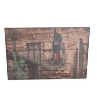 Wandschild Vintage Schild Dekoschild Shabby Holz Chic 88cm Retro New York Style