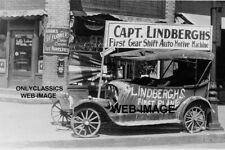 CHARLES LINDBERGH SAXON CAR CAFE SIGN PHOTO ROADSIDE ATTRACTION LITTLE FALLS MN