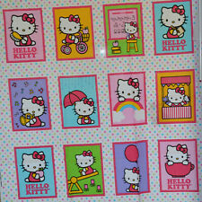 """New Hello Kitty Cheetah Love 100/% cotton Fabric by the panel 36/"""" x 43/"""""""