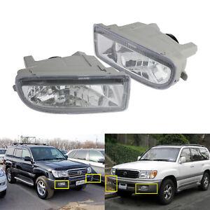 For 1998+ Toyota Land Cruiser Amazon Front Bumper Driving Fog Light Lamp L & R