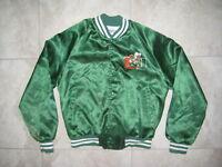 Grungey Vintage CHALK LINE MIAMI HURRICANES Green Satin Logo Jacket USED MEDIUM