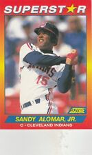 FREE SHIPPING-MINT-1992 Score 49 Sandy Alomar Jr Cleveland Indians SUPERSTAR