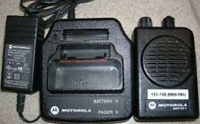Motorola Minitor V(5) Two Channel Vhf 151-158.9975 Mhz Stored Voice Sv Pager