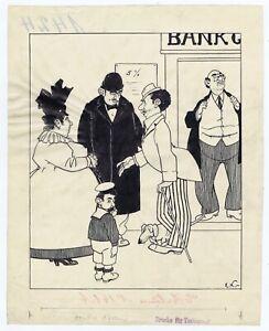 Emmerico Nunes portuguese artist modernism original drawing Charlie Chaplin