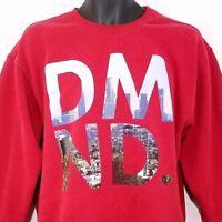 Diamond Supply Co Mens Sweatshirt Crew Neck City Skyline Urban Red Size Large