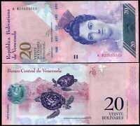 VENEZUELA 20 BOLIVARES 2014 P 91 UNC