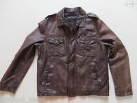 Levi's® Biker Jacke Lederjacke, Gr. L, TOP ! Echtes Vintage Leder, Used Style !
