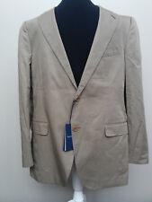 NEW! Faconnable Men's Suit Jacket/Blazer 100% Cotton 44R Tan France