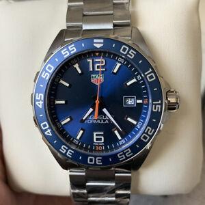 Tag Heuer Formula 1 Mens Watch WAZ1010.BA0842 Blue Dial 43mm Quartz NO BOX