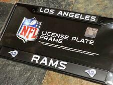 1 Los Angeles Rams Black Metal License Plate Frame - Nice Raised Graphics