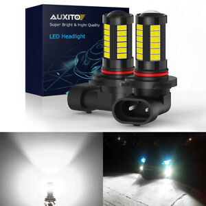 AUXITO 9006 HB4 LED Fog Driving Light 6000K High Power Bulbs CANBUS 2000LM