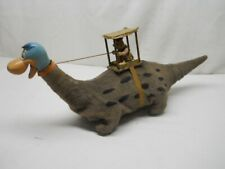 """~VINTAGE~ MARX BATTERY OPERATED """"DINO THE DINOSAUR"""" FRED FLINTSTONE TOY (NR)"""