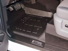 Front & Second Row Black Floor Mats for a 2004 - 2008 Ford F150 Super Cab