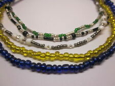 """5 Unique: Lightweight Handmade w/Free Shipping 12"""" Stretchy Anklets - Set of"""