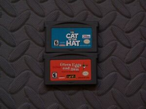 Lot Nintendo Game Boy Advance GBA Games Dr. Seuss' Titles