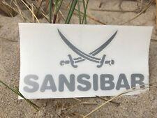 SANSIBAR Sylt Aufkleber -SET- 12x8 cm -Das ORIGINAL- 2 x SILBER