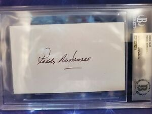 RODDY McDOWALL & KIM HUNTER (PLANET OF THE APES) AUTOGRAPHED Beckett Slabbed