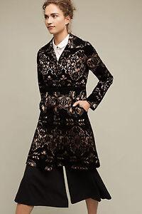 NWT - ANTHROPOLOGIE - PLENTY by TRACY REESE - Laced Velvet Coat sz 0 Black $248