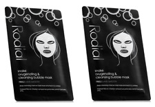 2 x Rodial Snake Cleansing & Oxygenating Bubble Sheet Mask deep cleanse charcoal